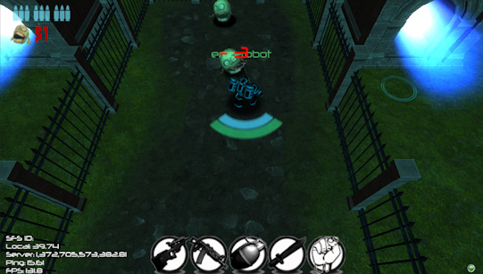 Gameplay screenshot of the Zombies Arena v2.0