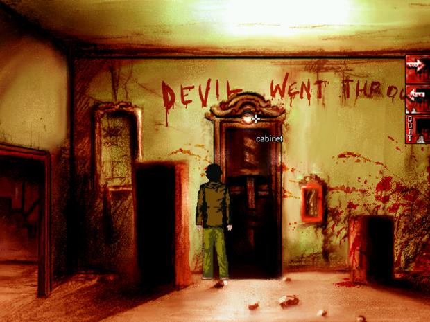 Devil went through here