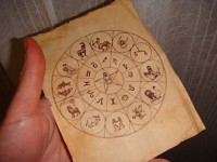 Day 7 : Old paper with the zodiac