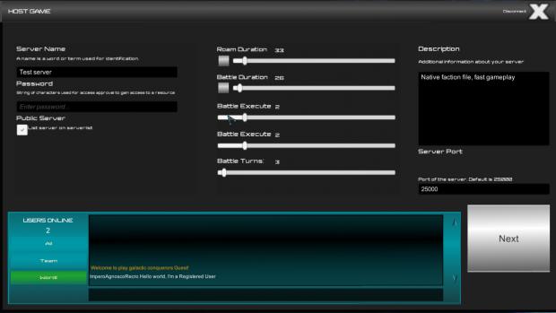 Multiplayer GUI rough design