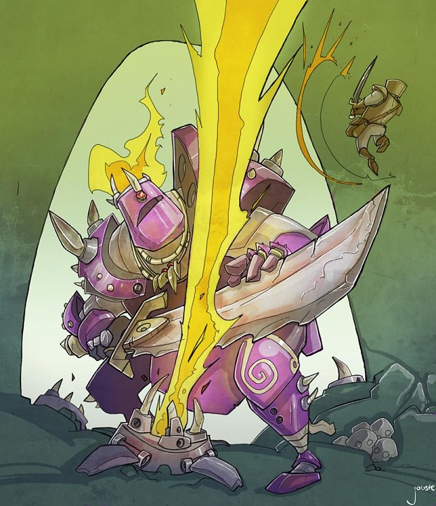 Concept art for Super Chibi Knight