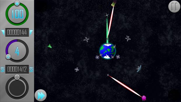 Laser Satellites attack