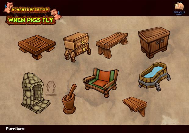 Concept - Furniture image - Adventurezator: When Pigs Fly