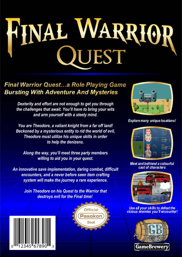 Final Warrior Quest Promo
