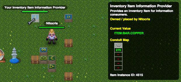 Inventory item information provider