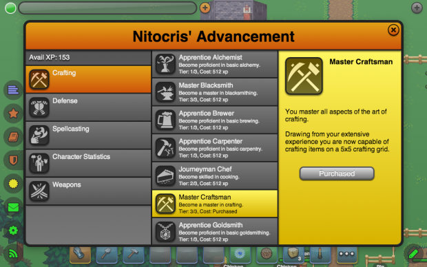 New Advancement Categories