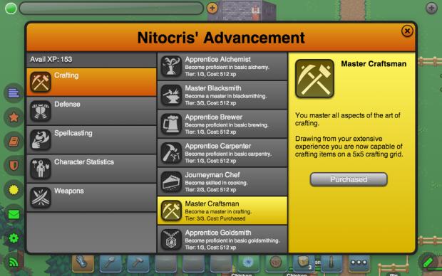 New Advancement Categories