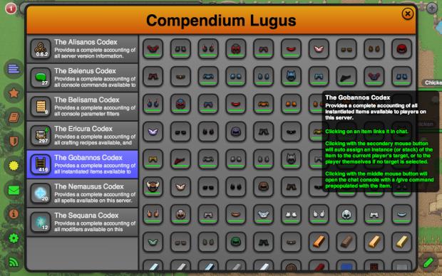 Compendium - Instanced Player Items