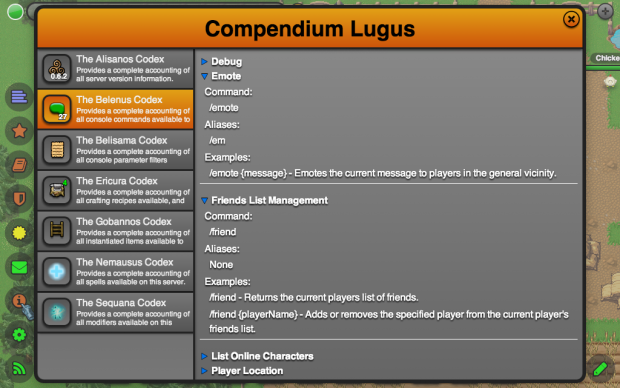Compendium - Console Commands