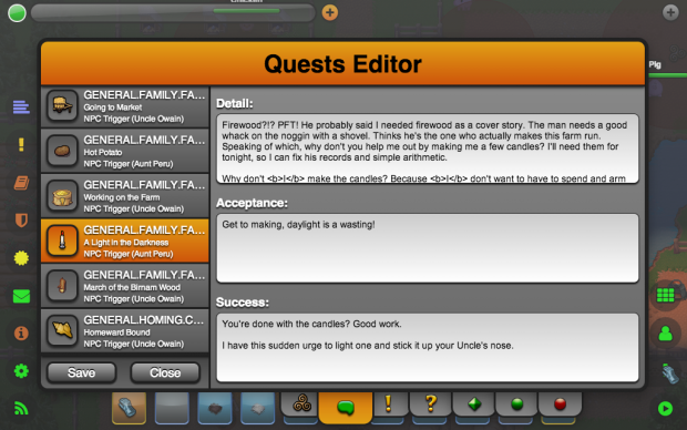 Quest Editor (Text Blocks)