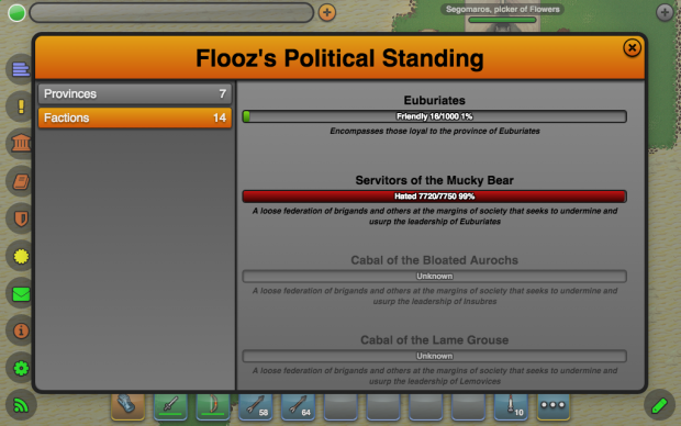 Factions UI (Politics)