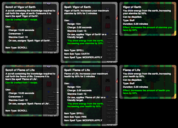 New Spells and Modifiers