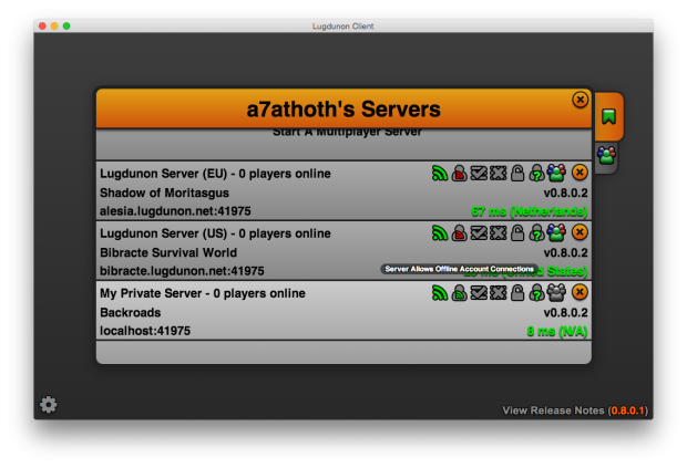Offline Server Support