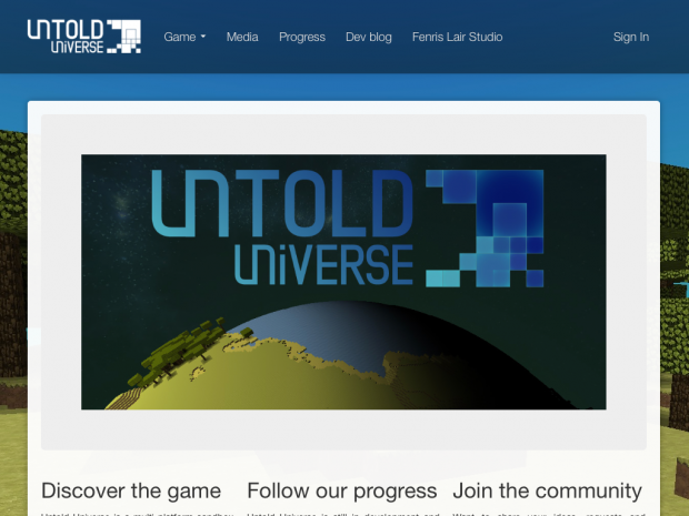 The game website