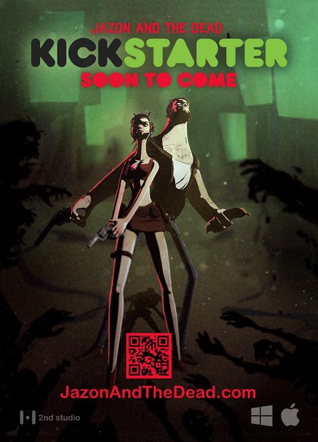 Jazon And The Dead - Kickstarter Flyer