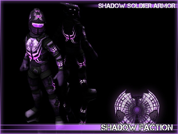 Shadow Soldier Armor 3D Render