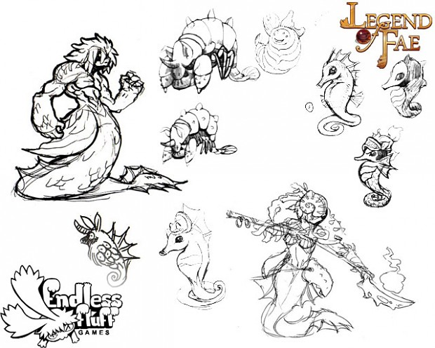 Water dwelling Fae Concepts