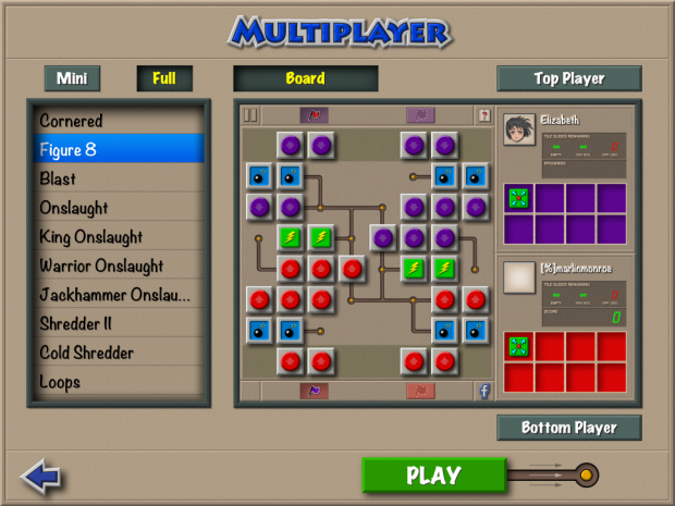 Multiplayer Pass 'n Play Screen