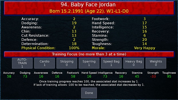 Boxing Manager Game - Boxer Training
