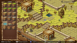 A mountain village map