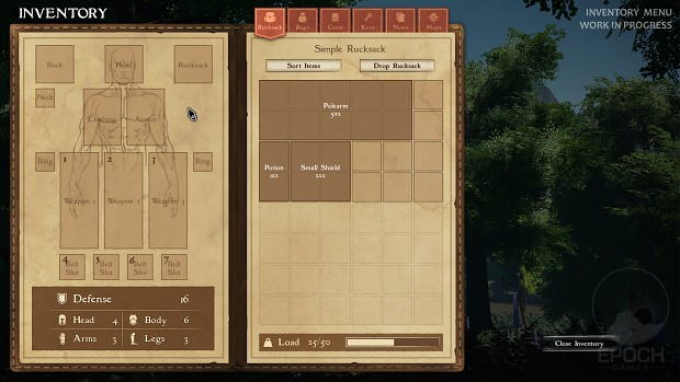 Player Inventory