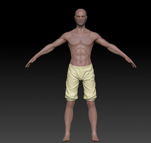 Male Adult Human Template (Body)