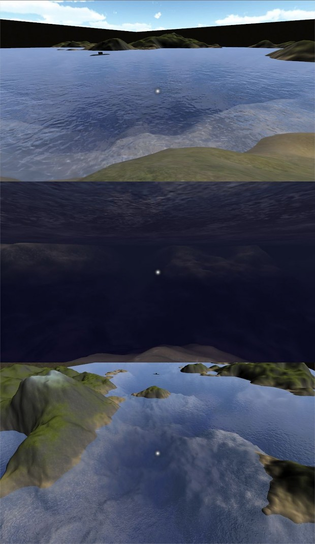 Improved water and underwater look