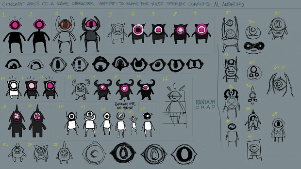 Concept arts of the main character