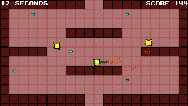 The current version of the game as this post is written, with a little texture update and more weapons.