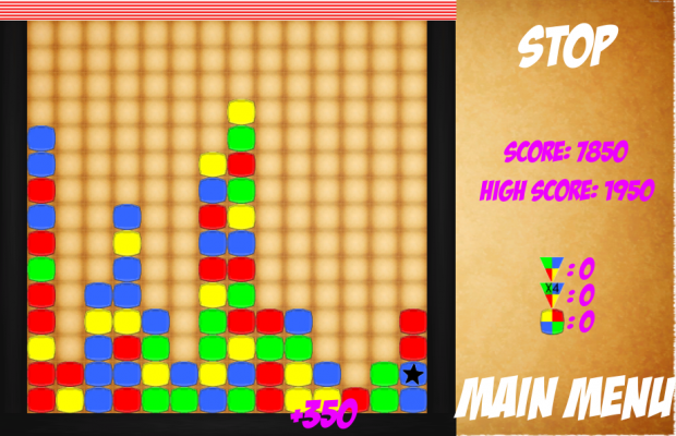 Screen shots from Block Crusher Game