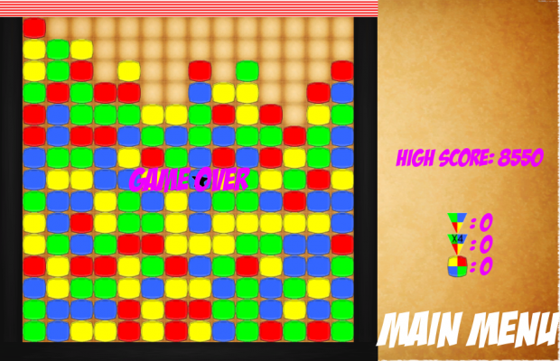Screen shots from Block Crusher Game