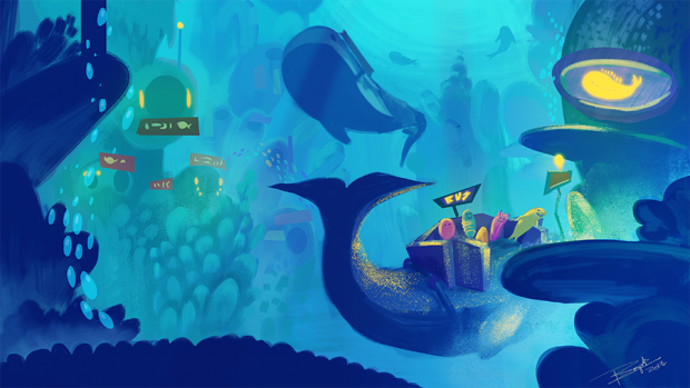 Underwater Metropolis Proof Of Concept Artwork