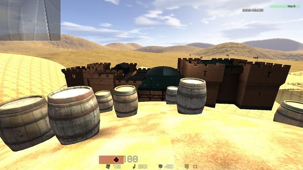 Barrels and dome