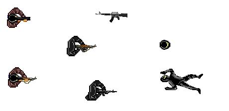 top down enemy sprites