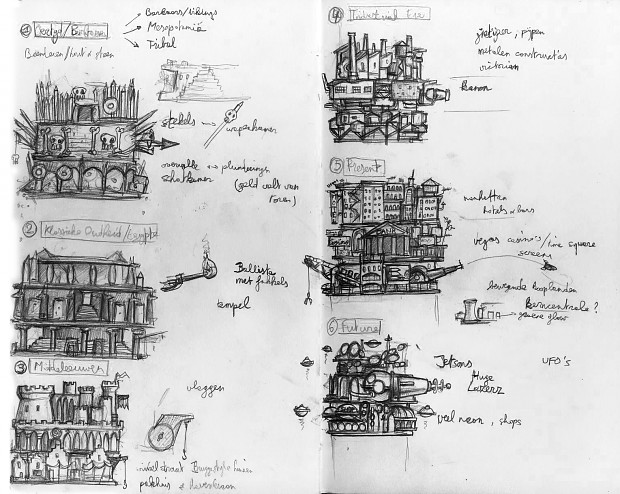 42 Stories: Concept Sketches