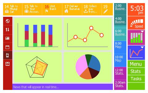 Venture Tales: screen mockups