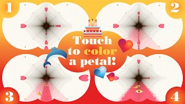 Touch to color a petal!