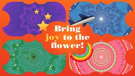 Bring joy to the flower!