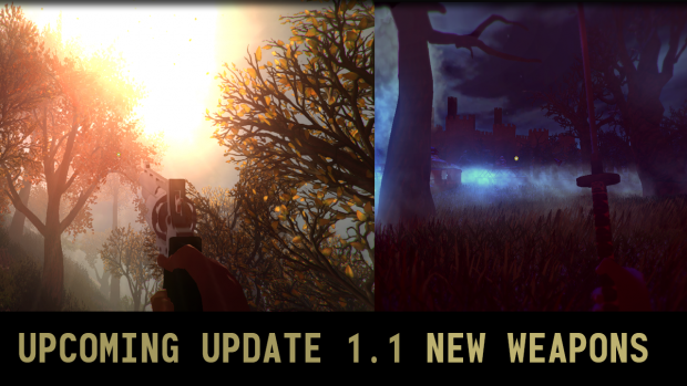 Upcoming Update 1.1 - New Weapons