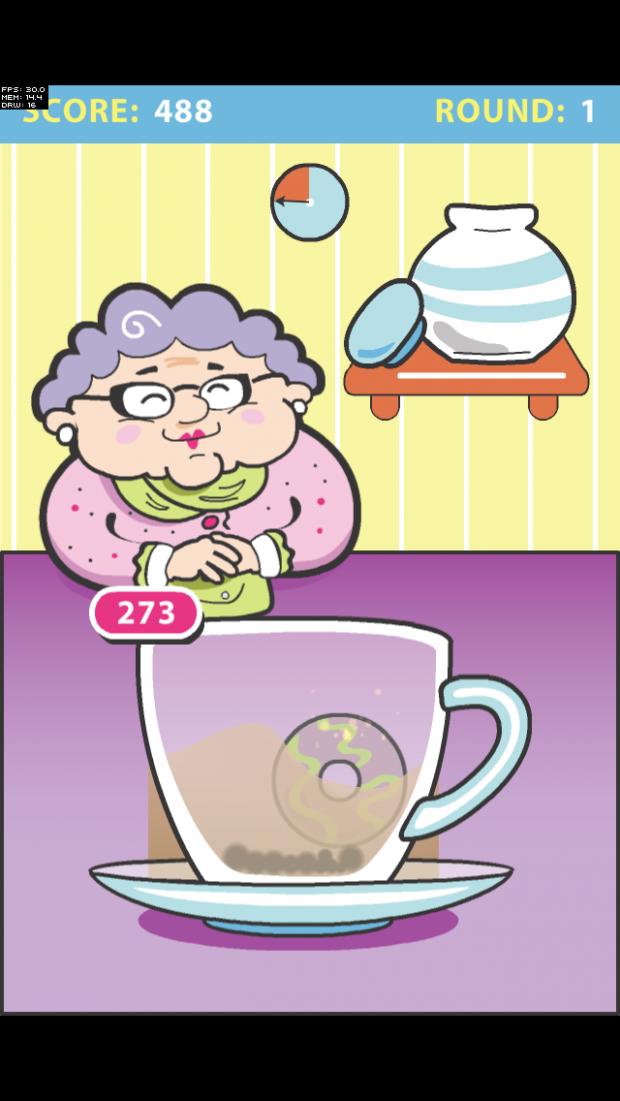 realistic looking tea movement when cookies dunk