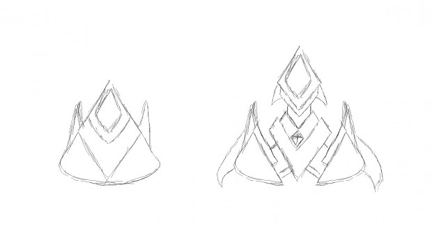 Sketches of new ships coming up.