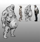 Early Fat Zombie Concept Sketch