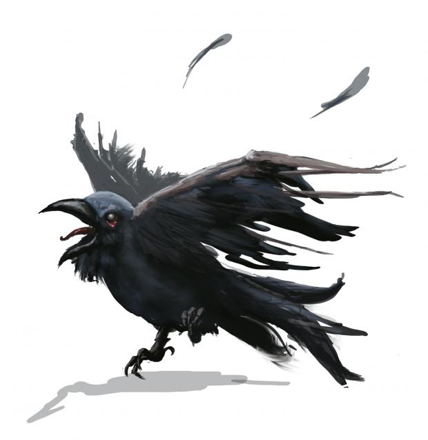 Zombie Crow Concept Art