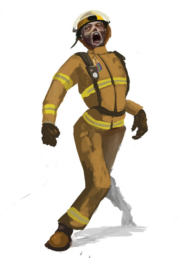 24 Days of Zombie Christmas! Day 6 - Firefighter