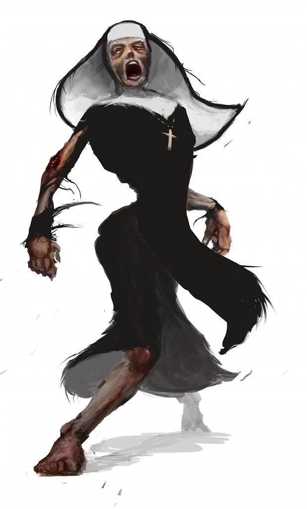 24 Days of Zombie Christmas! Day 13 - Zombie Nun