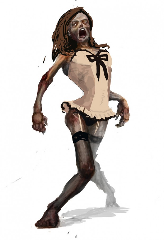 24 Days of Zombie Christmas! Day 7 - Sexy Lingerie