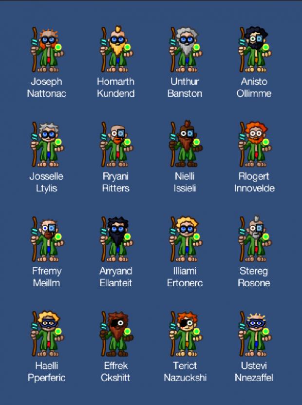 Random wizard characters