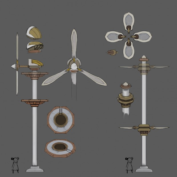 Windmill design with color