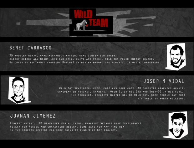 Credits screen introducing Wild Team!