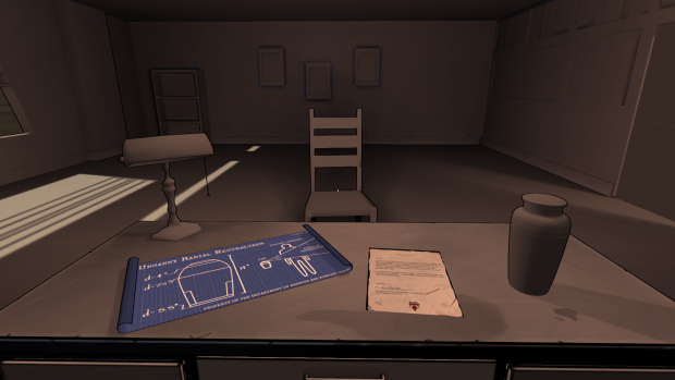 Early work on the agent's office.